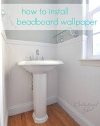 Beadboard Wallpaper On Ceiling by Installing Beadboard Wallpaper Centsational Style