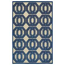 Outdoor Rugs That Can Get Wet by Hampton Bay Coastal Medallion Blue 7 Ft 5 In X 10 Ft 8 In