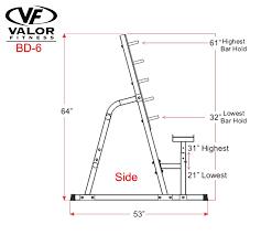bd 6 safety squat bench combo rack valor fitness valor