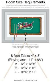 room needed for pool table pool table sizes chart developerpanda
