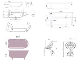 heritage perth 1650 x 720mm single ended roll top bath with feet heritage perth 1650 x 720mm single ended roll top bath with feet technical drawing qs v76033 bphw01
