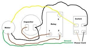 motor capacitor wiring diagram motor wiring diagrams collection