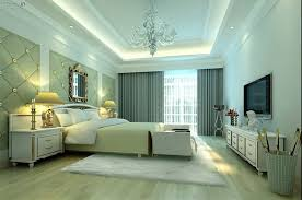 luxury bedroom designed with led lighting and bedside lamps a