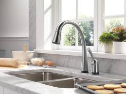Automatic Kitchen Faucet Delta Pilar Single Handle Standard Kitchen Faucet With Touch