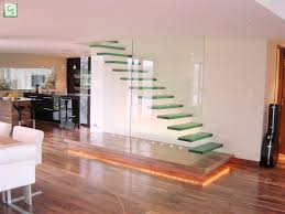 stair astonishing home interior decoration using floating glass