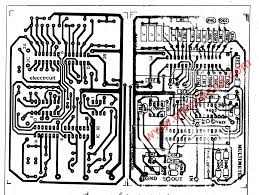 layout pcb inverter digital multimeter circuit using icl7107 the pcb layout and