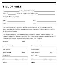 printable bill receipt printable sle printable bill of sale for travel trailer form