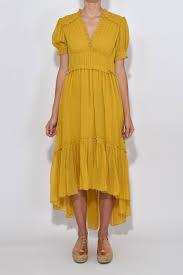honey clothing ulla johnson sonja dress in honey in yellow lyst