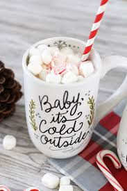 baby mugs lettered custom baby it s cold outside mug using paintedbyme