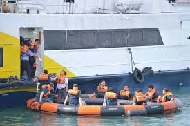 mpa singapore conducts ferry drill to test emergency preparedness