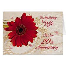 170 Wedding Anniversary Greetings Happy 20th Anniversary Cards U0026 Invitations Zazzle Co Uk