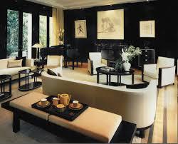 elegant contemporary living room with art deco interior design