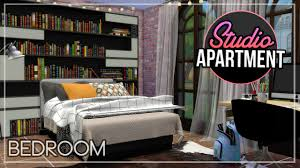 studio apartment build the sims 4 part 2 bedroom youtube