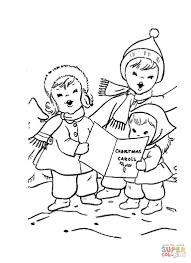 dibujo de cantantes de villancicos para colorear dibujos para