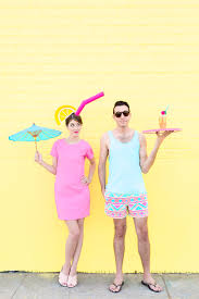 diy tropical drink pool boy couples costume costumes