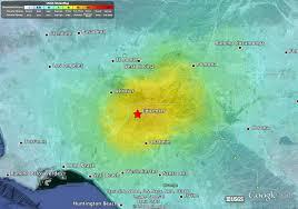 Earthquake Los Angeles Map by Atlas Geotechnical M5 1 La Habra Earthquake