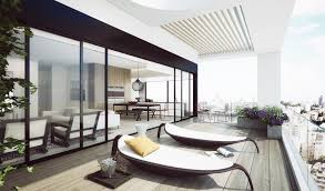 fabulous lounge area penthouse in modern style part of apartment
