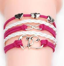 fashion charm leather bracelet images Women fashion vintage leather bracelet infinity love believe jpg
