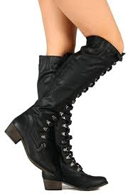 luxury mens slippers military lace up over the knee high boots