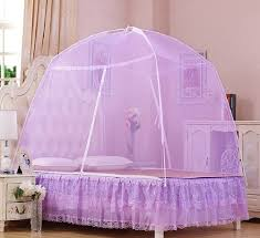 Lace Bed Canopy Baby Portable Lace Folding Yurt Door Mosquito Nets Bed