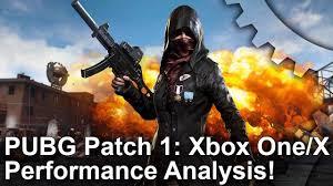 pubg xbox one x performance pubg xbox one vs xbox one x patch 1 frame rate test youtube