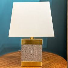 shagreen ceramic rectangle lamp regina andrew design luxe home