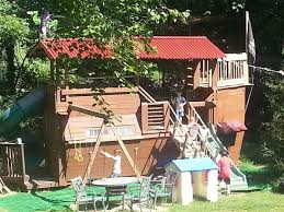 Pirate Ship Backyard Playset by Pirate Ship Playhouse Treehouse Fort Swingset In Trouble