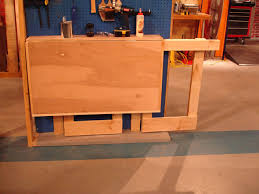 Plans For Building A Woodworking Workbench by How To Make A Fold Down Workbench How Tos Diy