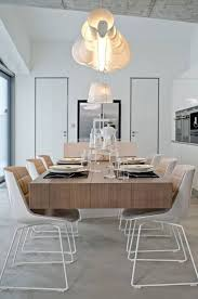 chic white dining room chandelier minimalist and overwhelming