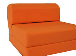 Folding Foam Chair Bed Orange Sleeper Chair Folding Foam Bed Sized 6 Thick X