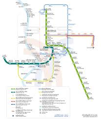 Metro Route Map by Bangkok Mrt Underground Bangkok Subway Mass Rapid Transit
