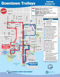 Pensacola Map Pensacola Downtown Trolley Image Gallery Hcpr