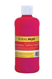 smart non toxic washable tempera paint 1 pt plastic bottle