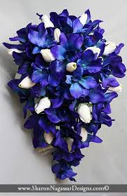 blue and purple orchids blue purple orchids cobalt by nagassar designs on zibbet