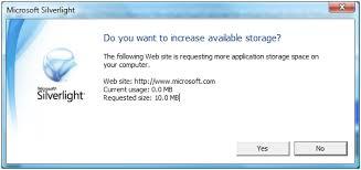 Microsoft Silver Light App Storage 1 Jpg