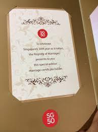 wedding certificate holder sg50 wedding certificate simi sai also sg50