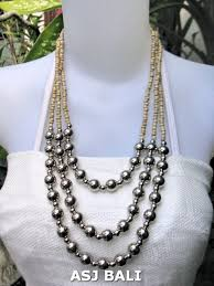 silver ball beads necklace images Beads necklaces wholesale beaded necklaces handmade from bali jpg