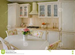 Kitchen Green Kitchen Colors Stock Classic Style Kitchen And Dining Room Interior In Beige Pastoral
