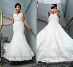 vintage mermaid lace plus size wedding dresses 2015 v neck