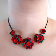 red flower necklace images Red flower necklace by juniperjewelry jpg