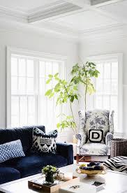 blue velvet sofa transitional living room zhush