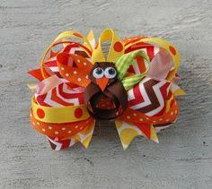 thanksgiving hair bows birthday girl balloons stacked boutique hair bow stacked