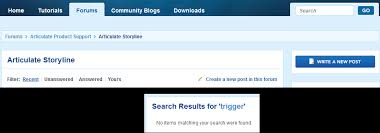 is something with the search functionality in the forums