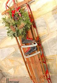Holiday Decorations 2014 How To Make A Vintage Holiday Sled Decoration Hometalk