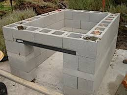 Outdoor Cinder Block Fireplace Plans - cement block bbq grill u2013 bbq u0026 grills