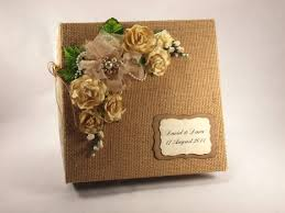 rustic wedding album wedding photo album burlap covered wedding album guest book