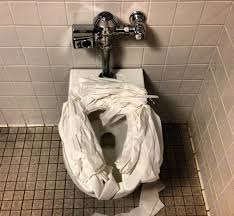 this is why you should never put toilet paper down on public