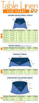 wedding table linens rentals table linen size chart square rectangle circle and banquet