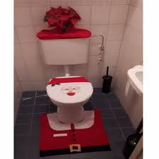 Santa Claus Rugs Santa Claus Rug Toilet Seat Cover Bathroom Set Merry Christmas