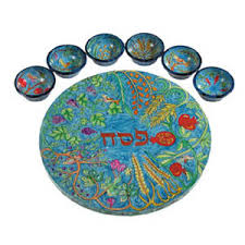 pesach plate wood seven species pesach plate israeliproducts